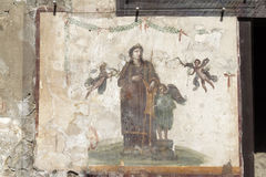 Pompeii Catholic Fresco Royalty Free Stock Photography