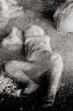 Pompeii. Child victim of the eruption Royalty Free Stock Photography
