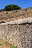 Pompeii Colosseum Wall Royalty Free Stock Photos