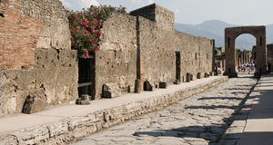 Pompeii Colosseum Wall Royalty Free Stock Images