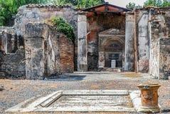 Pompeii, Decorated fountain Stock Photo