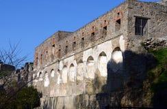 Pompeii den romerska staden Arkivfoto