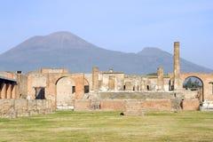 Pompeii et Vésuve photographie stock
