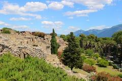 pompeii fördärvar Arkivfoton