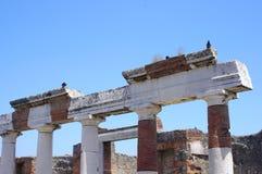 Pompeii fördärvar nära vulkan Vesuvius Royaltyfria Foton