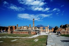 Pompeii Forum Royalty Free Stock Photos