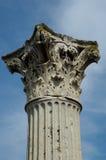 Pompeii Forum Coloumn. A column in the ancient Roman city of Pompeii Stock Photo