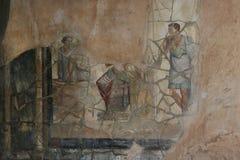 Pompeii fresco. Naples (Italy) stock photography
