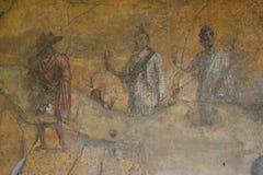 Pompeii fresco. Naples (Italy) royalty free stock photo
