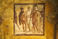 Pompeii frescoes Stock Photo