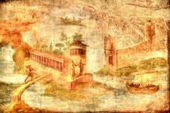 Pompeii freskomålning Royaltyfri Foto
