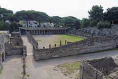 Pompeii Gladiators Square Stock Images