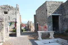 Pompeii. The historical and ancient city 'chaired by the Romans where even now remain in perfect condition the ancient excavations with its ruins Royalty Free Stock Image
