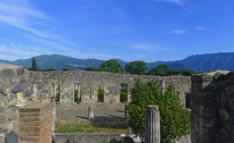 Pompeii huset av citharaspelaren Arkivfoton