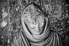 Pompeii intérieur trouvé par statue Images libres de droits