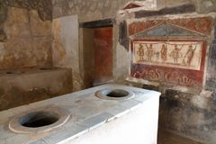 Pompeii, Italie : fresque photos stock
