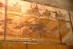 Pompeii, Italie : fresque photo libre de droits