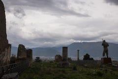Pompeii, ITALIE - 4 novembre 2018 Ruines antiques à Pompeii, ville romaine près de Naples moderne photo libre de droits