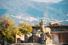 Pompeii, Italie Statue de centaure sur le territoire du forum photographie stock libre de droits
