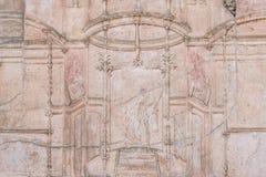 Pompeii, Italie Vieux bâtiment de Bas Relief On Wall Of photo libre de droits