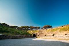 Pompeii, Italie Vue d'amphithéâtre de Pompeii en Sunny Day photo libre de droits