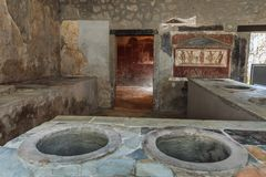 Pompeii Italien Royaltyfri Fotografi
