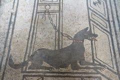 Pompeii Italien: freskomålning Arkivfoto
