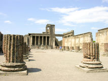 POMPEII ITALIEN - MAJ 05, 2006: Den berömda antikviteten fördärvar av Pompeii, Royaltyfria Bilder