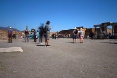 Pompeii, Italy: ancient Roman city Stock Photos