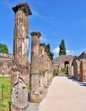 Pompeii, Italy. Ancient ruins of city Pompeii near volcano Vesuvius in Italy royalty free stock photos