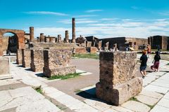 Ruins of Pompeii in Italy Royalty Free Stock Photos