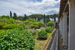 Pompeii, ITALY - JUNE 01: Pompeii ruins after the eruption of Vesuvius at Pompeii, Italy on June 01, 2016 Royalty Free Stock Images
