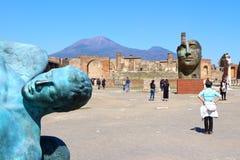 Pompeii, Italy: Mitoraj statue Royalty Free Stock Image