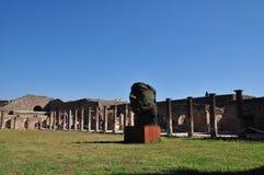 Pompeii, Italy. Modern sculpture in Pompeii, Italy stock images