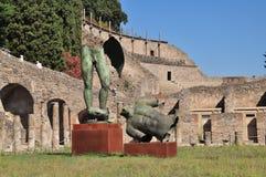Pompeii, Italy. Modern sculptures in Pompeii, Italy stock photos