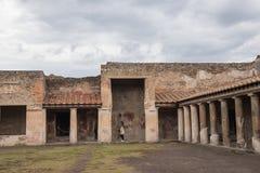 Pompeii, ITALY - 04 November, 2018. Ancient ruins in Pompeii, Roman town near modern Naples stock photos