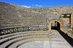 Pompeii, Italy Ruins. The amphitheater in the ruins of ancient Pompeii, Italy Stock Images