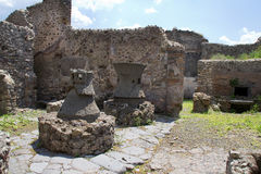 Pompeii Kitchen Kilns Royalty Free Stock Photography