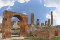 Pompeii kolumny Fotografia Stock