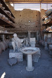 Pompeii man statue. In the ruined  Roman city Royalty Free Stock Images
