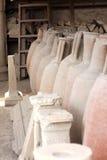 Pompeii miasta antyczna Romańska amfora Włochy zdjęcia royalty free