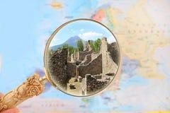 Pompeii and Mount Vesuvius Stock Images
