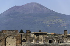 Pompeii and Mt. Vesuvius Stock Image