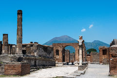 Pompeii and Mt. Vesuvius Royalty Free Stock Images