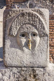 Pompeii in Naples, Italy. Ancient fontain, Roman city ruins Royalty Free Stock Images