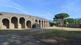 Pompeii, o anfiteatro Imagens de Stock
