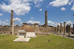 Pompeii och montering Vesuvius Arkivfoto
