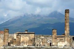 Pompeii och Vesuvius Arkivbild