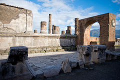 Pompeii. Photo of Ancient Pompeii Ruins Royalty Free Stock Photo