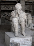 Pompeii Plaster Cast in Situ Stock Images
